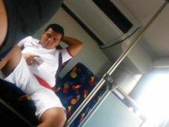 Str8 Mex Chacal Bulge in Public Bus