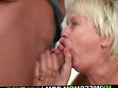 His wife comes in and sees him fucking old ma