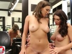 Barber Customer Has Two Big Dick For Lily Love And Holly Michaels 1080p