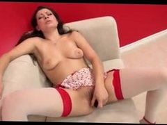 Babe puts a sex toy in her pussy