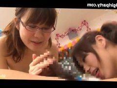 XXX JAV - Japanese schoolgirls tied and licking a guy