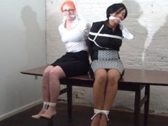 Two girls gagged