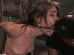 Sasha Grey fuck slave , throath and pussy fucked