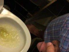 Emptying bladder before jerking off...