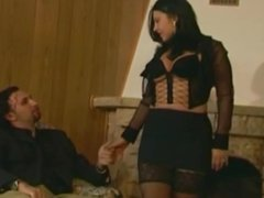Gorgeous Spanish MILF in stockings enjoys a nice fuck