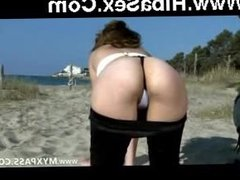 Arab girl fucked in doggy style on the beach