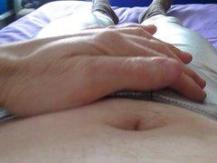 Shiny Silver Leggings Wank.
