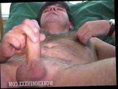 Amature Guy Stroking His Uncut Dick