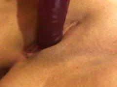 Big dildo fucks phat pussy