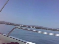 Boat blowjob with cum in mouth