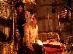 Rebecca Love sucking and fucking a cowboy
