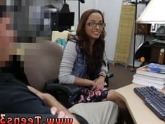 Big tits webcam glasses dildo College Student Banged in my pawn shop!