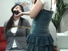 japanese girl tied up by other girl