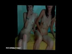 2 college teen lesbians trib in dorm room on cam