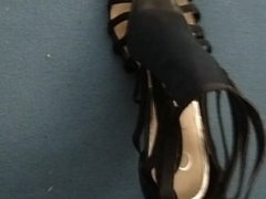 Cumming on my friends amazing shoes!