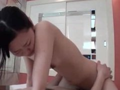 Amateur Asian Teen Gets Creampie - For More Visit angelzlive.com