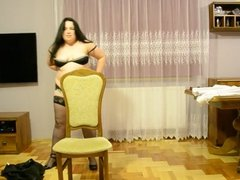 Sexy Dancing withe Chubby Wife
