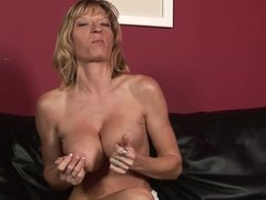 Busty MILF gets her huge tits creamed after banging