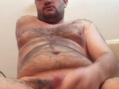 Chubby bear masturbating
