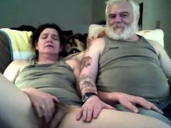 Wanking while my guy sits by my side