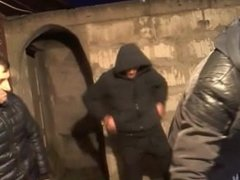 RUSSIA DUNGEON BASEMENT FOURSOME - AMATEUR FUCK SMOKING