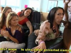 Birthday Party Sluts Suck Male Strippers Cock