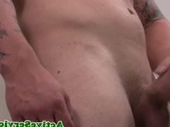 Solo military hunk jerking his cock