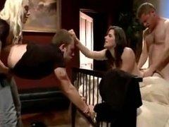 2 Girls Control Her Husband