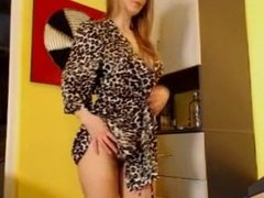 busty blonde playing with dildo - more videos on camteensporn.com