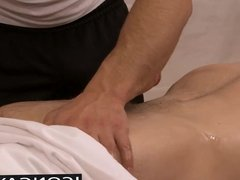 Masseur Andrew Fitch likes ramming his cock in his tight ass