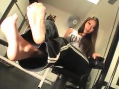Asian Girl Feet Tease