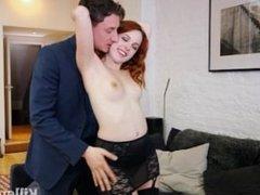 Redhead Amarna Miller Rides A Cock