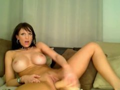 Brune too good masturbates with a dildo