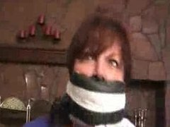 Girl getting gagged gets more than she bargained for