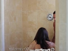 PornPros - Two teens are fucked in shower for hot threesome