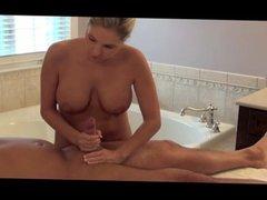 Blonde Massages Her Man & Gets Creampied