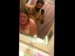 Amateur Fattie rammed in the bathroom