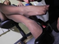 FFS Nylon Foot Worship In The Office