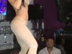 Girl Dancing In Hotel With Full Talli