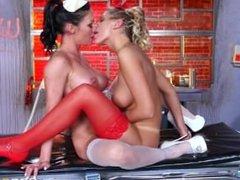 August Ames & Starri Knight in movie Lesbian Nurses on porno4ok.ru