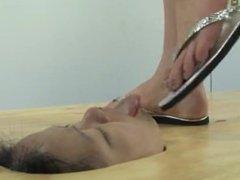 Lesbian - Stuck in floor, feet in face