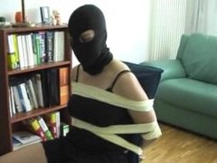 Female German Burgler Chairtied Part 1