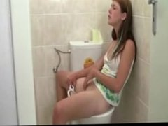 sexy teen masturbating in bathroom
