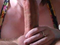 POV Blow Job - Sucking his Big Hard Cock