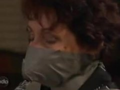 Women wrap gagged and bound hardcore