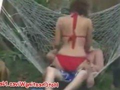 Cheating Wife Fucking In The Backyard