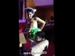 Thai girl adult show audience grabbing her boobs
