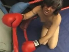 Mia vs Shannon Topless Boxing