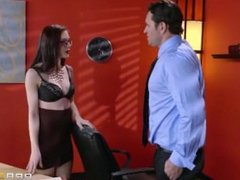 Anna De Ville begs him to fuck her needy asshole in her new office