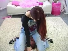Facesitting jeanssitting femdom - Luna
